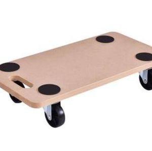 RECTANGLE 440LBS CAPACITY WOOD DOLLY